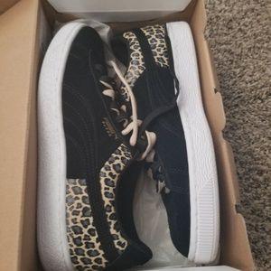 Suede & cheetah Puma